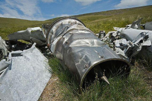 Vampire-VZ106-crash-site-brecon-beacons-wales-2